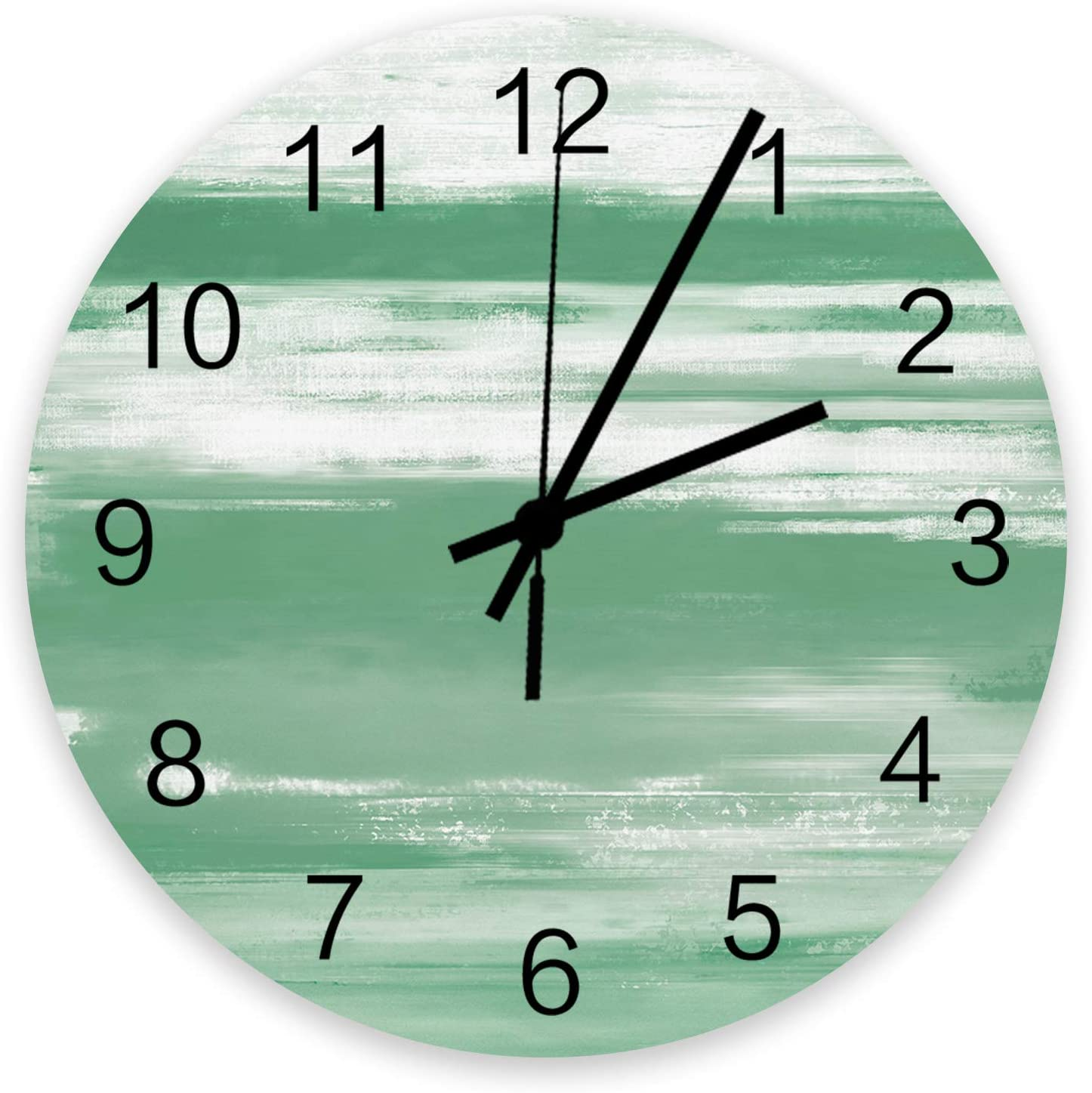 Roses Tulsa Mall Garden 12 Inch Max 85% OFF Wooden Wall Clock Textu Abstract Turquoise