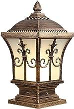 Fashion Outdoor Column Headlight Waterproof Pillar Lamp Fence Wall Sconce Exterior Landscape Lighting Fixture Lawn Pillar ...