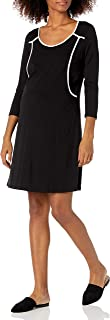 Maternal America Women's Piping Detail Nursing Maternity Dress