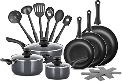 Chefs Star Professional Grade Aluminum 15 Piece Non-stick Pots & Pans Set Cookware Set