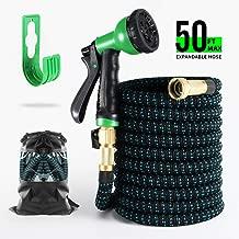 BOSNELL Expandable Garden Hose,Durable Flex Water Hose,8 Function Spray Hose Nozzle, 3/4