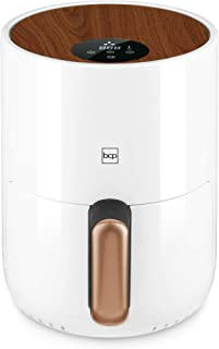 Best Choice Products 1.6qt 900W 120V Compact Air Fryer Kitchen Appliance w/Digital LCD Screen, Recipes, Overheat Protection, Adjustable Temperature, Oil Filter Rack, White
