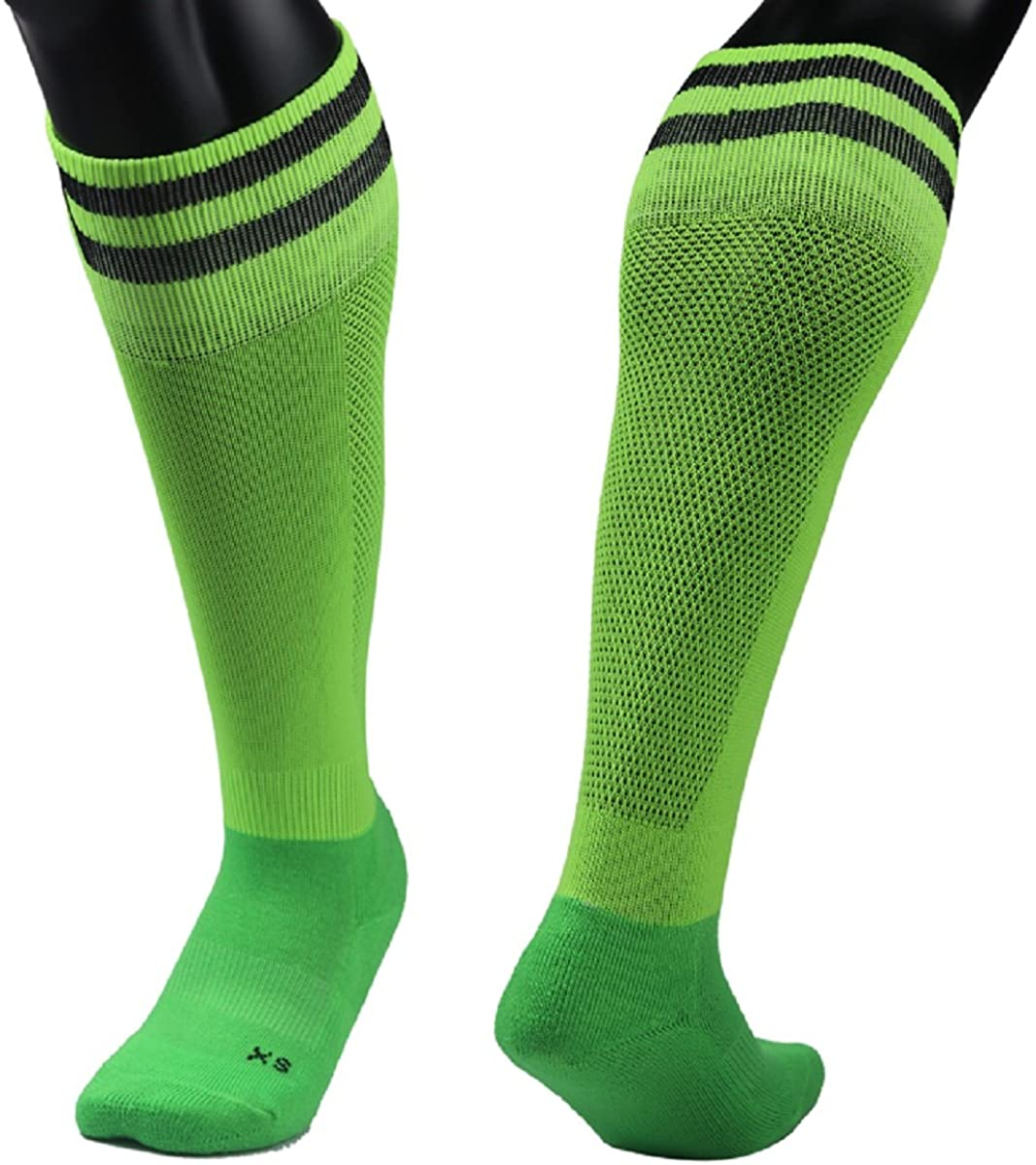 Lian LifeStyle Children's Adult 1 Pair Exceptional Knee High Sports Socks Striped XL003