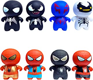 8 Pcs Superhero Action Figures Sets for Kids,Mini Size Toys Set for Boys,Birthday Cake Toppers Decoration