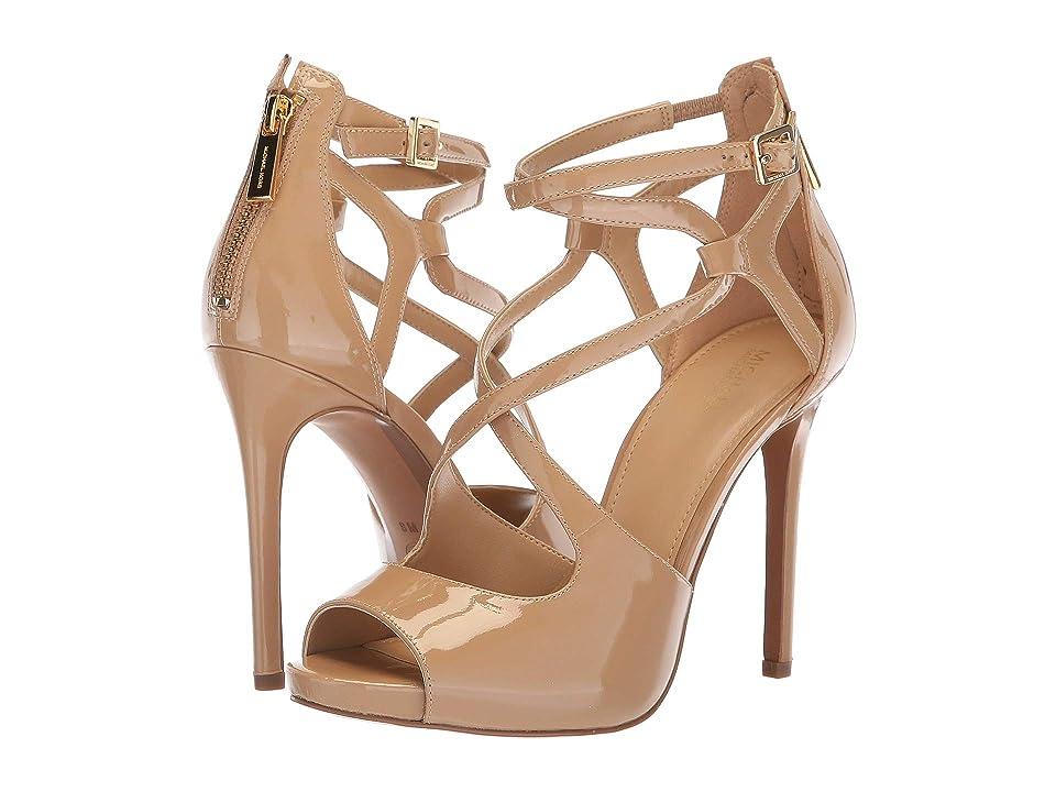 MICHAEL Michael Kors Catia Sandal (Toffee Patent) High Heels