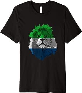 Soccer team Sierra Leone national pride Lion Flag Premium T-Shirt