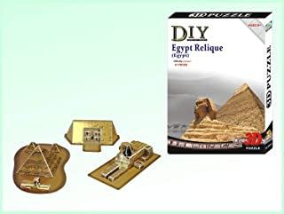 Ancient Egypt Sites, Sphinx, Pyramid and Pharaoh King Tut Tomb Kit 3 D Model P...