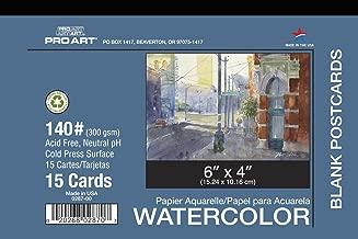 PRO ART 4-Inch by 6-Inch Watercolor Postcard