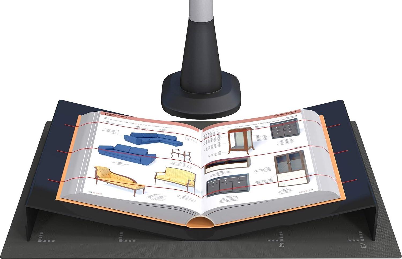 JOURIST Cuna para escáneres de supervisión y libros de tamaño A3. Fabricada en acrílico negro.