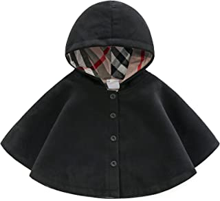 Baby and Toddler Boys & Girls Wool Blend Winter Hooded Outerwear Capes Poncho Coat