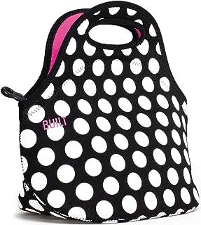 BUILT LB31-BBW Gourmet Getaway Soft Neoprene Lunch Tote Bag - Lightweight, Insulated and Reusable, Big Dot Black & White