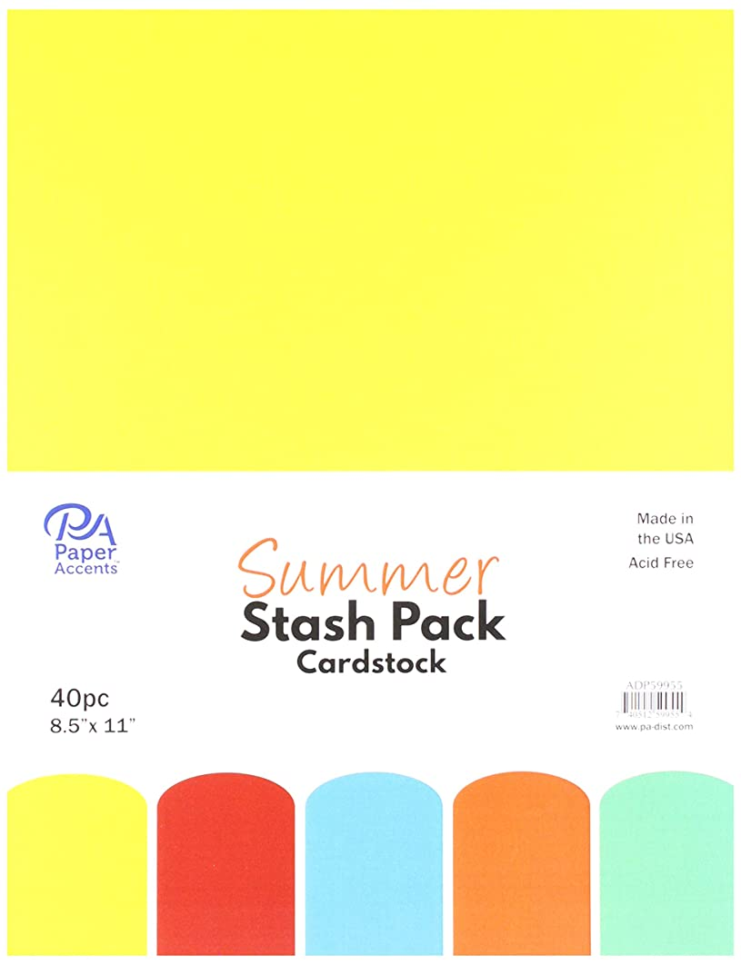 PA Paper Accents ADP59955 Stash 8.5x11 40pc Summer, None