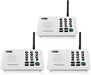 Wuloo Intercoms Wireless for Home 5280 Feet Range 10 Channel 3 Code, Wireless Intercom System for Home House Business Office, Room to Room Intercom, Home Communication System (3 Packs, White)