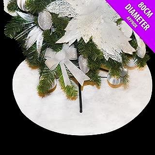 albero di Natale allegro Gonna peluche puro gonna albero bianco per la decorazione domestica 60CM gonna albero di Natale