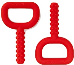 GETIT Chewy Tubes Oral Motor Chewers,Baby Teething Tool in Red, 2 Pack
