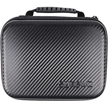 SUREWO Surface-Waterproof Carrying Case Compatible with GoPro Hero 9/8/7/(2018)/6/5/4 Black,Hero 3+,DJI Osmo Action,AKASO/Campark/YI Action Camera and More (Medium)