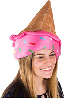 Tigerdoe Ice Cream Party Hat - Ice Cream Cone Costume - Novelty Hats - Food Hats - Crazy Hat Day - Ice Cream Party Supplies