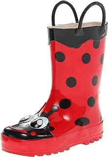 Western Chief Girls' Waterproof Printed Rain Boot with Easy Pull on Handles