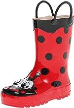 حذاء المطر مطبوع مقاوم للماء للأولاد من ويسترن شيف مع مقابض سهلة السحب