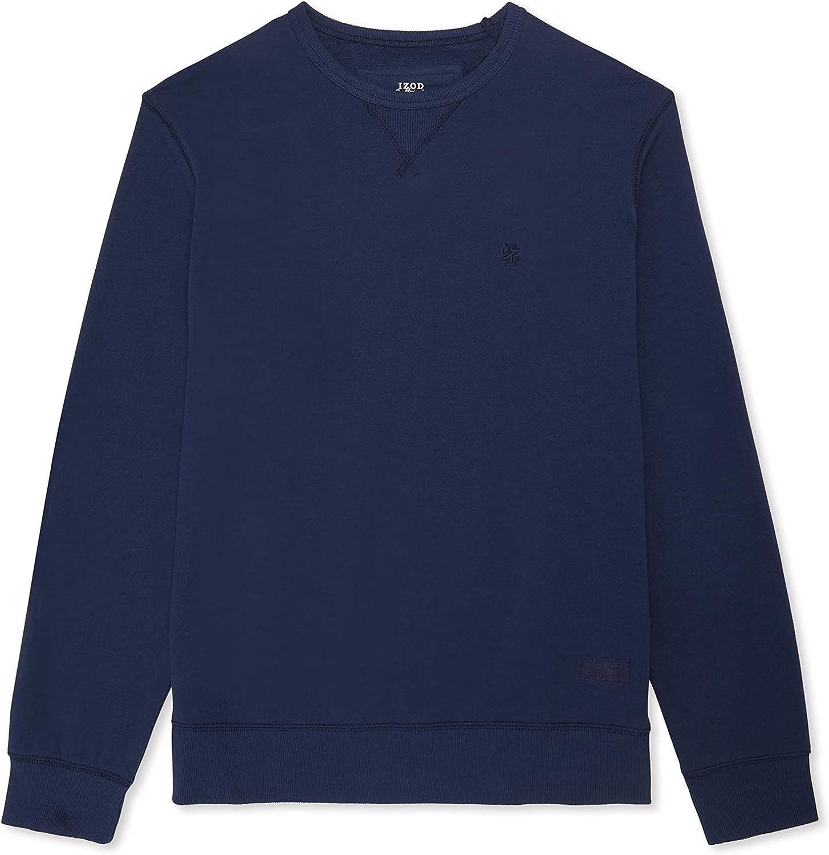 IZOD Men's Big & Tall Saltwater Long Sleeve French Terry Crewneck Sweatshirt