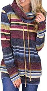 Amazon Brand - Daily Ritual Women's Supersoft Terry Long-Sleeve Hoodie Pullover Women's Drawstring Zip Up Long Sleeve Pullover Sweatshirt Top with Pockets Women's Ultra Soft Fleece Midweight Casual 1/4 Zip-Up Pullover Hoodie Sweatshirt Womens Crewneck Sweatshirts Color Block Long Sleeve Sweaters Tunic Tops Women Cowl Neck Striped Color Block Long Sleeve Pullover Sweatshirt with Pocket