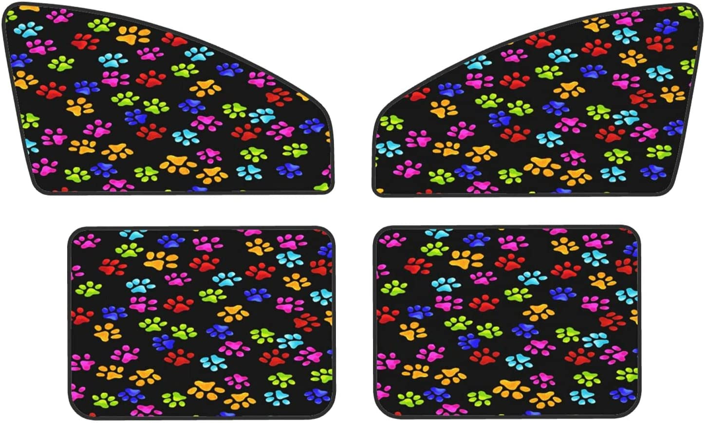 Colorful Dog Paw Gorgeous Prints Car Protect Covers Sunshades 2021 new Magnets Pri