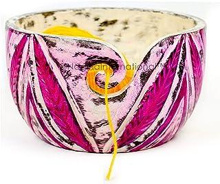 Nagina International Exquisite Premium Yarn Ball Storage Bowls | Hand Painted Lovely Decor Yet Functional Yarn Dispenser (...