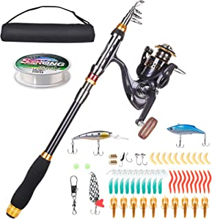 LineRike Fishing Rod and Reel Combos, Carbon Fiber...