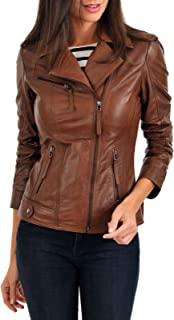 Best womens brown leather motorcycle jacket Reviews