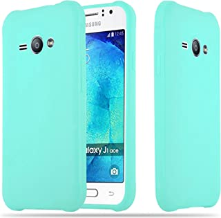 Cadorabo Case Works with Samsung Galaxy J1 ACE in Candy Blue – Shockproof and Scratch Resistant TPU Silicone Cover – Ultra Slim Protective Gel Shell Bumper Back Skin