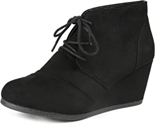 385c08dfc27 DREAM PAIRS Women s Fashion Casual Outdoor Low Wedge Heel Booties Shoes