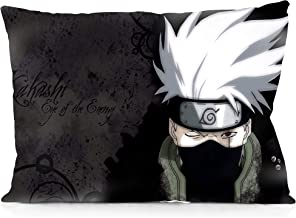 DoubleUSA Hatake Kakashi Pillowcases Two Sides Print Zipper Pillow Covers 20x30
