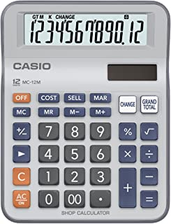 Casio MC-12M Practical Desk Top/Compact Desk Type Calculator, 0.14 kilograms