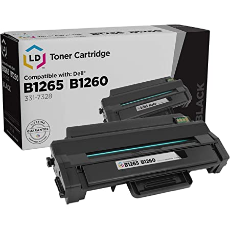 LD Compatible Toner to replace Dell 331-7328 (RWXNT) Black Toner Cartridge for your Dell B1260dn & B1265dnf Laser Printer