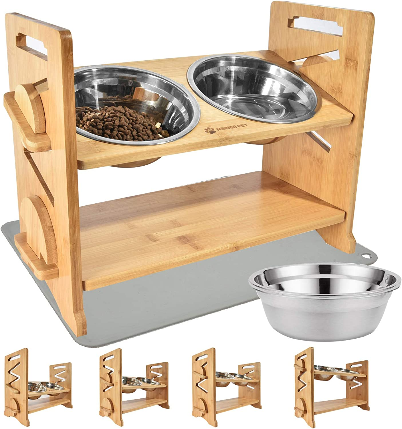 Raised Pet Jacksonville Mall Bowl for Cats and Dogs Small Adjustable Elevated Online limited product Dog