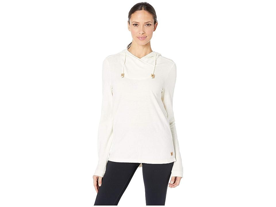 tentree Cumulus Hooded Long Sleeve (Natural White) Women