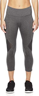 Women's Printed Capri Leggings With Mid-Rise Waist Performance Compression Tights