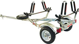 Malone Auto Racks MicroSport Trailer Kayak Transport Package with 2 Malone J-Pro2 Kayak Carriers