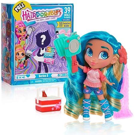 Hairdorables, Poupée (Serie 3) avec 11 Accessoires Surprises, Cheveux à coiffer, Modèles aléatoires, 39 poupées à collectionner, Jouet pour enfants dès 3 ans, HAA05