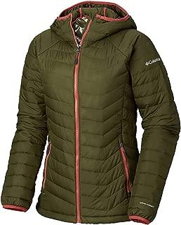 Columbia Women's Powder Lite Insulated Hooded Omni Heat Winter Jacket (Small, Nori)