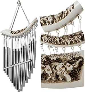 YLYYCC Lvory Shape Wind Chimes with Bells Decoration for Outdoor Garden and Home Decor-Perfect Decoration