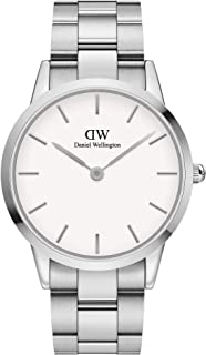 Daniel Wellington Men's Iconic Link Watch, 40mm, Silver/White