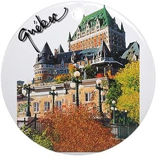CafePress Frontenac Castle Quebec Signa Ornament (Round) Round Holiday Christmas Ornament