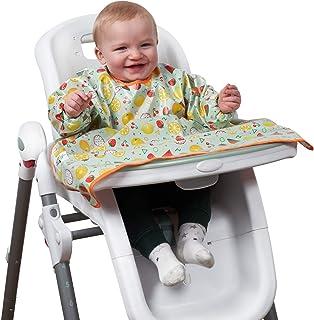 Weaning Bib - ShiShu Creations - Feeding Bib, Long Sleeve Bib, Ideal for Baby Led Weaning (BLW), Waterproof & Stain Resist...