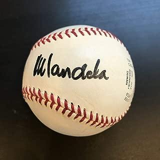 Incredible Nelson Mandela Single Signed Autographed Baseball PSA DNA President