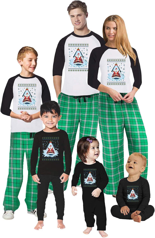 Awkward Styles Christmas Pajamas for Family Xmas Santa in Shark Matching Christmas Sleepwear