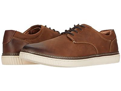 Johnston & Murphy Walden Casual Plain Toe Sneaker (Tan Oiled Full Grain Leather) Men