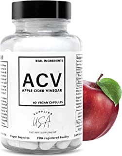 ACV Apple Cider Vinegar Capsules - Natural Powerful 500mg Premium-Non-GMO Vegetarian Cider Capsules, Made in USA FDA Facil...