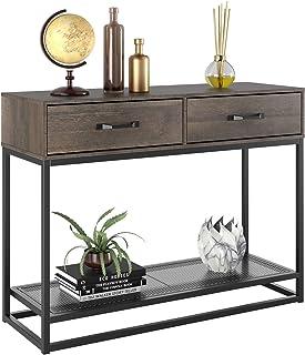 HOMECHO Console Table, Sofa Table, Industrial Entryway...