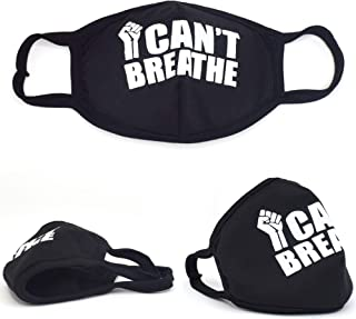 I Can't Breathe Face Cover Cloth Nose and Mouth Washable USA Made Handmade Mask